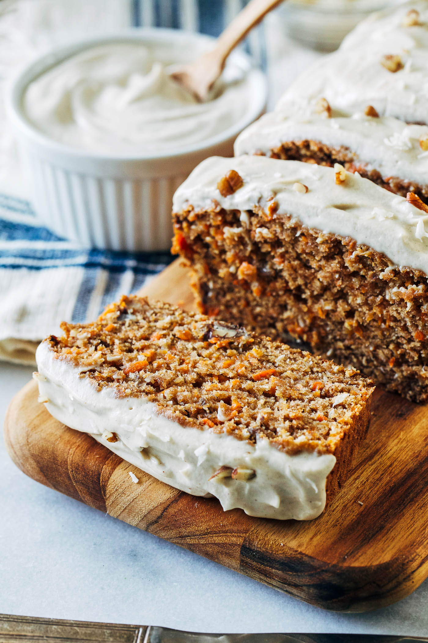 Vegan Banana Carrot Bread with Cashew Cream Cheese Icing ...