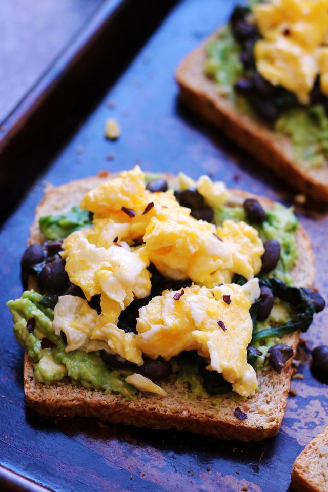 Avocado Toast with Smoky Black Beans from Eats Well With Others