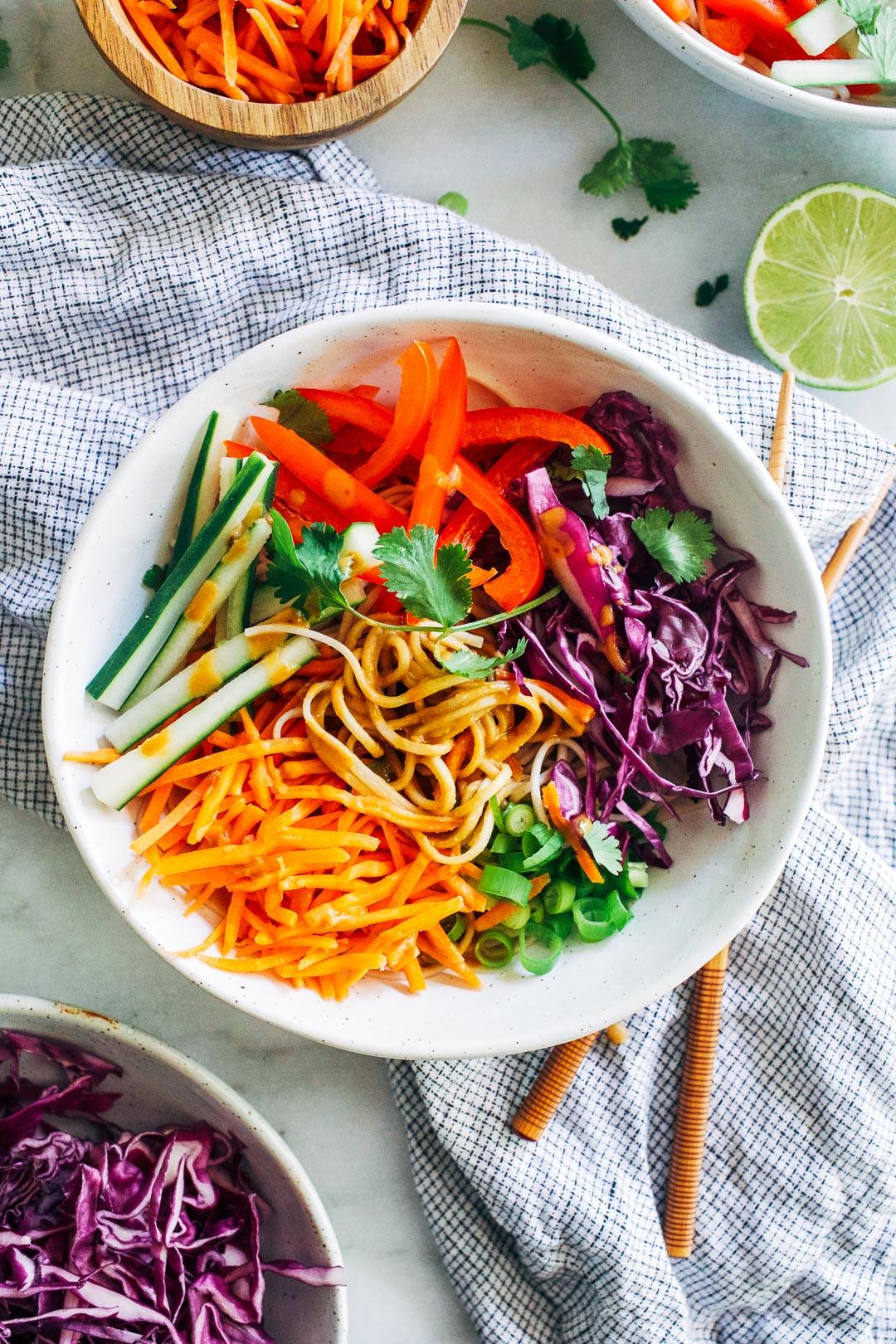 Peanut Soba Noodle Bowls - Making Thyme for Health
