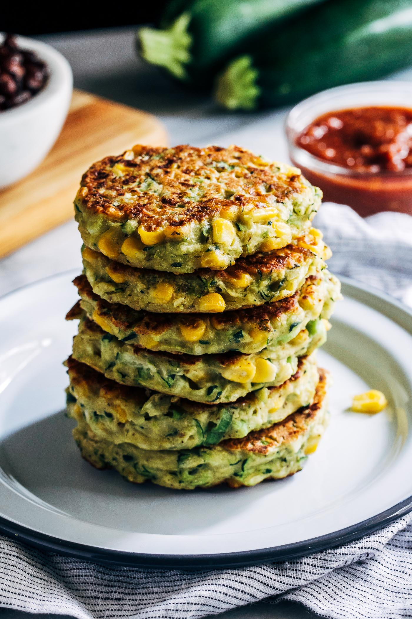 Healthy Zucchini Corn Fritters - Making Thyme for Health