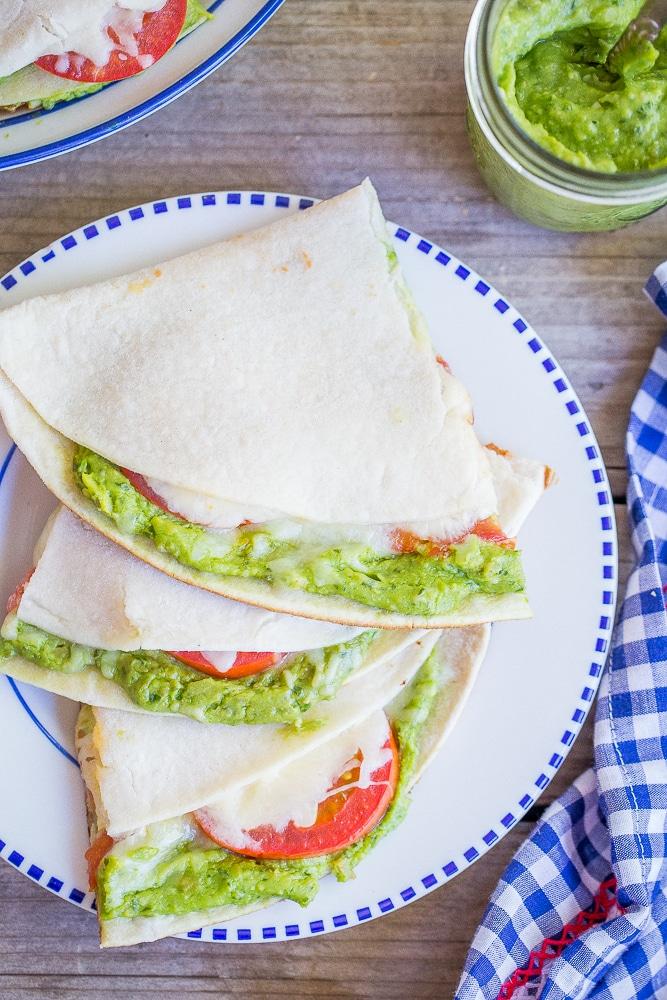Avocado Pesto Quesadillas from She Likes Food