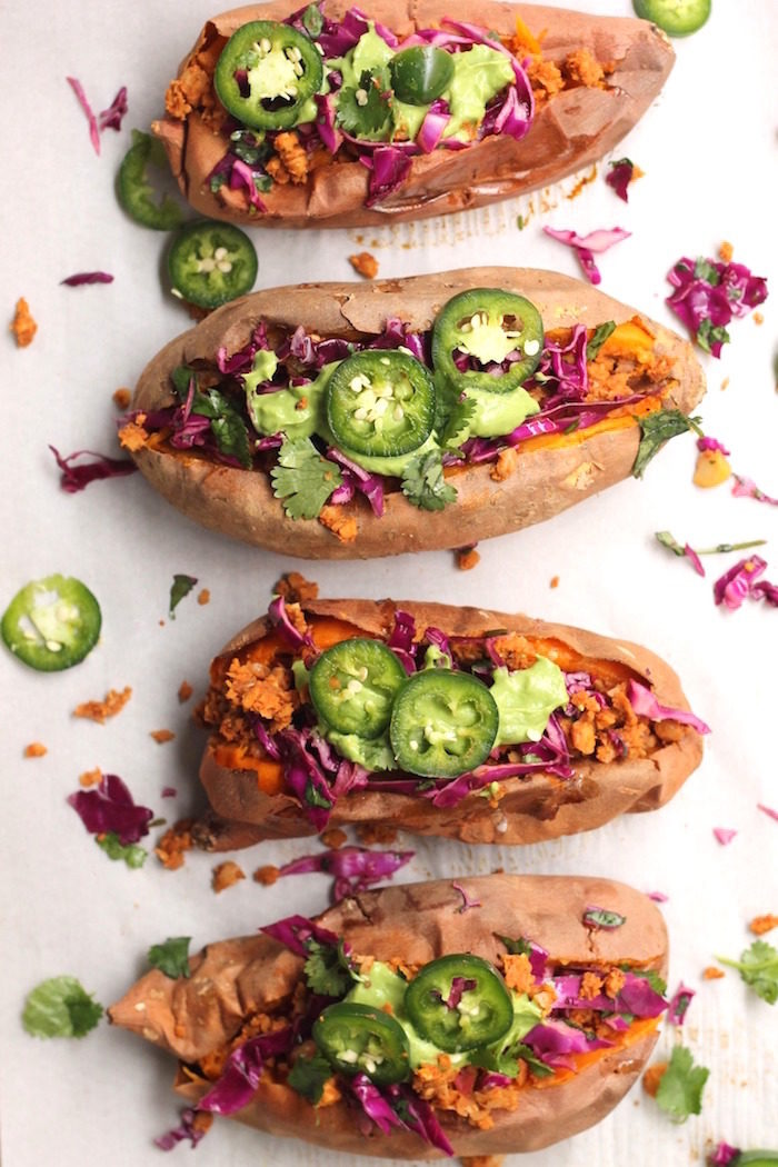 Taco Stuffed Sweet Potatoes from Hummusapien