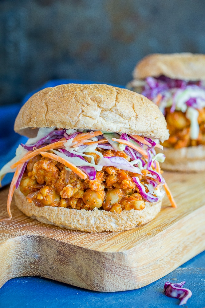30-Minute Chickpea and Tempeh Sloppy Joes from She Likes Food