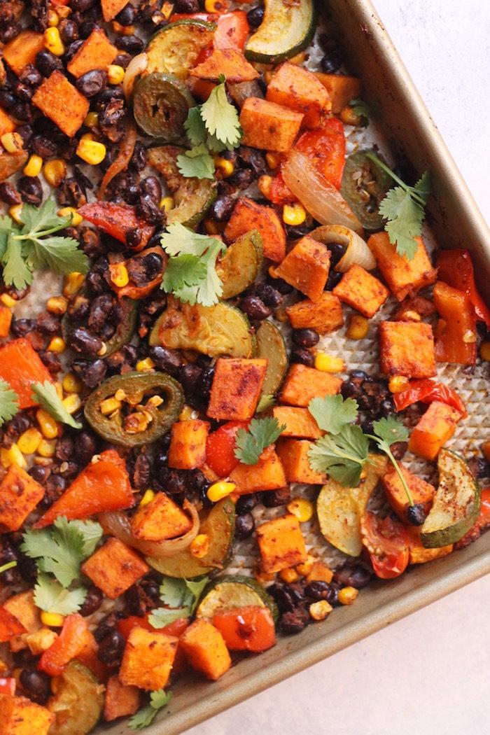 Sheet Pan Mexican Veggie Dinner from Hummusapien