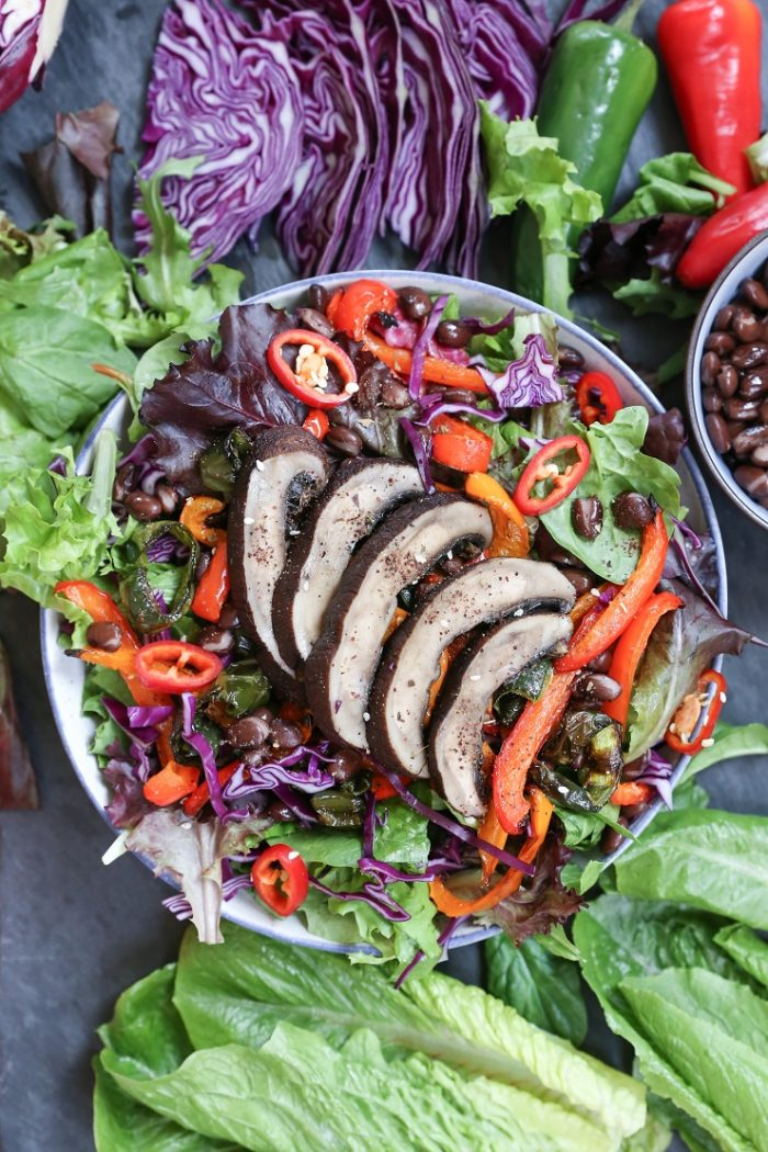 Grilled Portobello Mushroom and Bell Pepper Salad from The Roasted Root