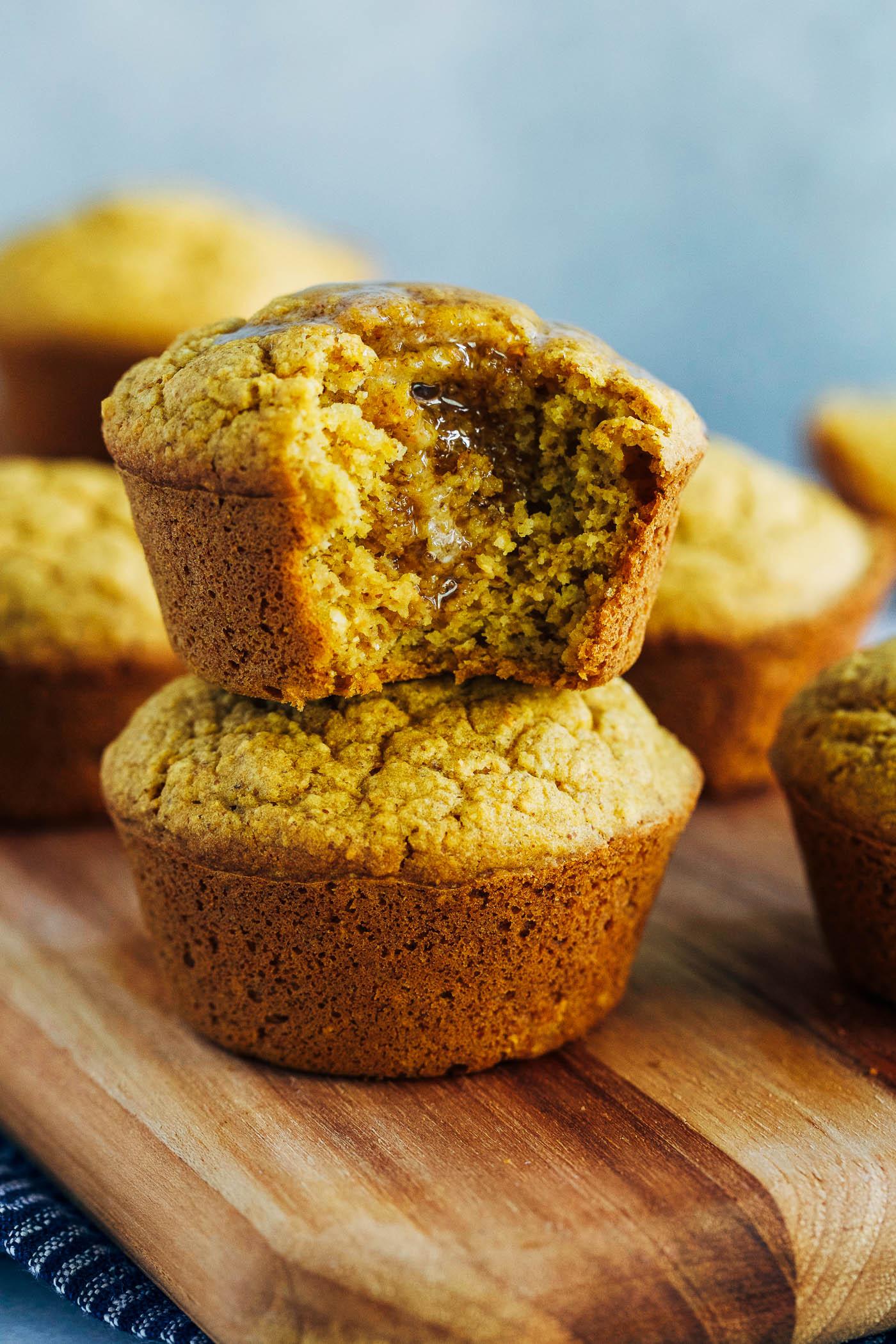 Vegan Pumpkin Cornbread Muffins - Making Thyme for Health