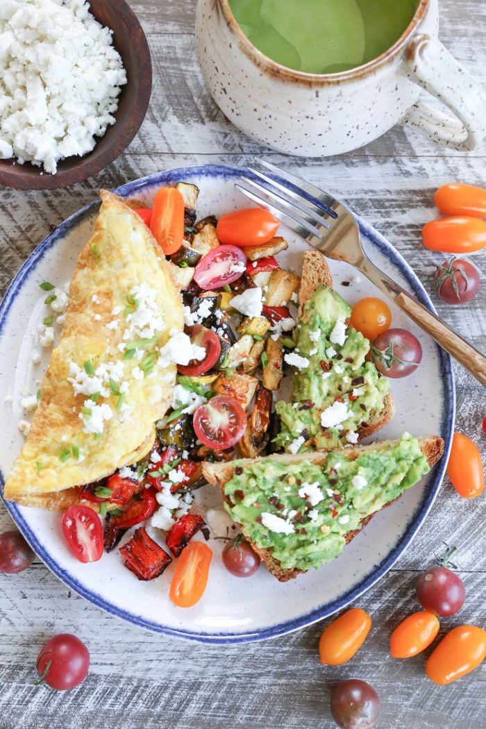 Late Summer Balsamic Roasted Vegetable Omelettes from The Roasted Root