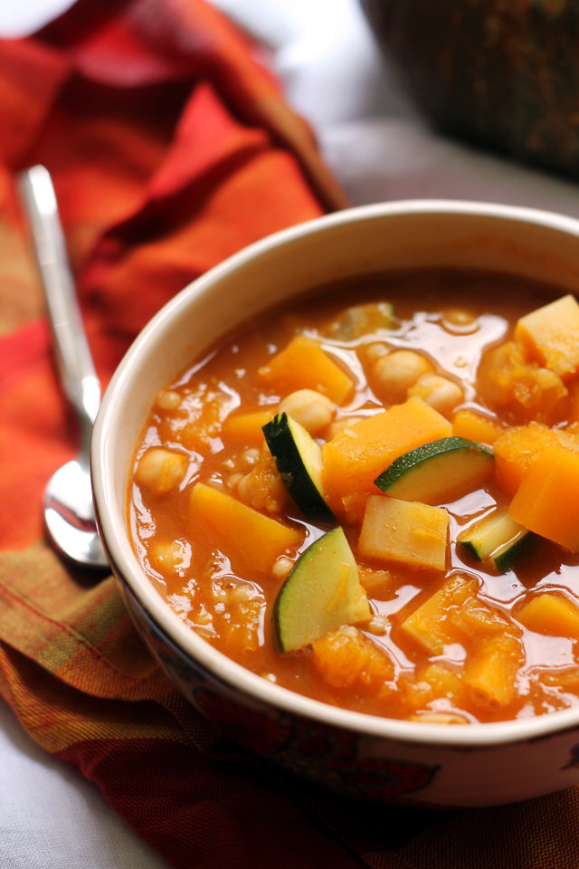 Moroccan Chickpea and Butternut Squash Soup from Eats Well With Others