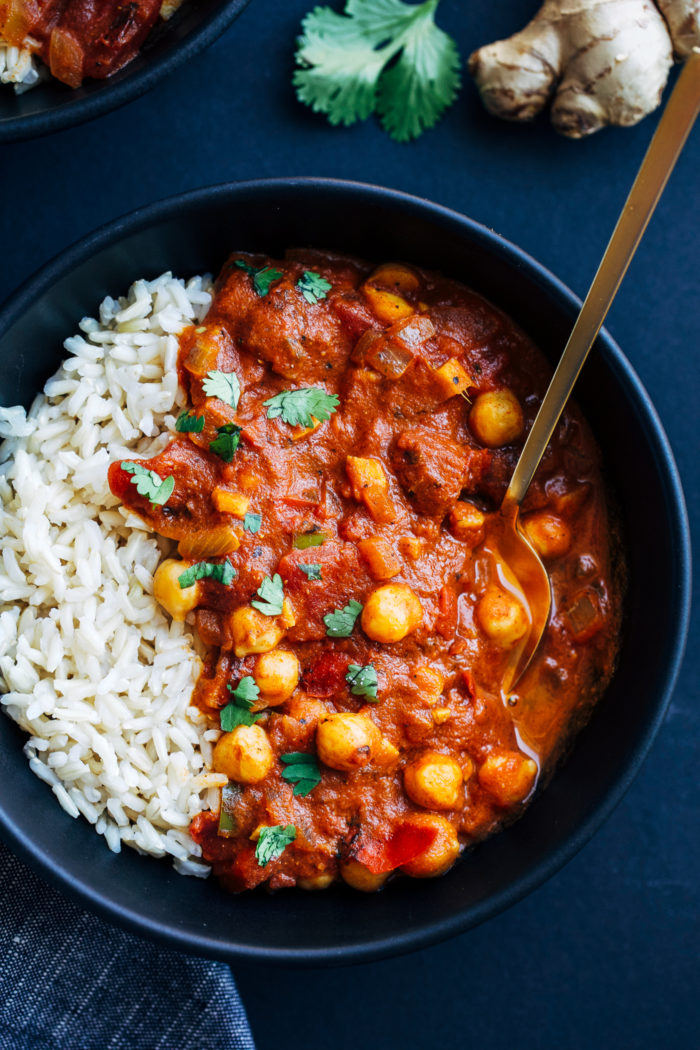 One-Pot Chickpea Tiki Masala from Making Thyme for Health