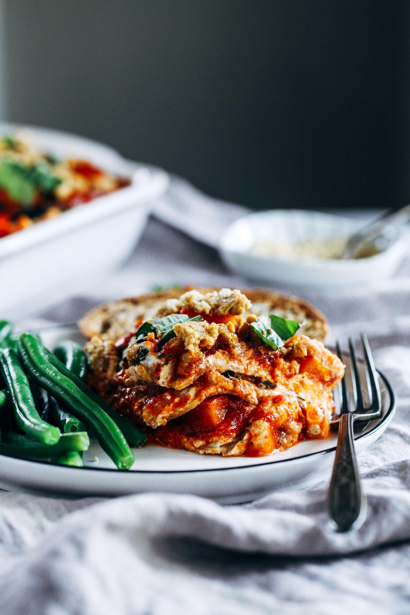 Vegan Butternut Squash and Kale Lasagna - Making Thyme for ...