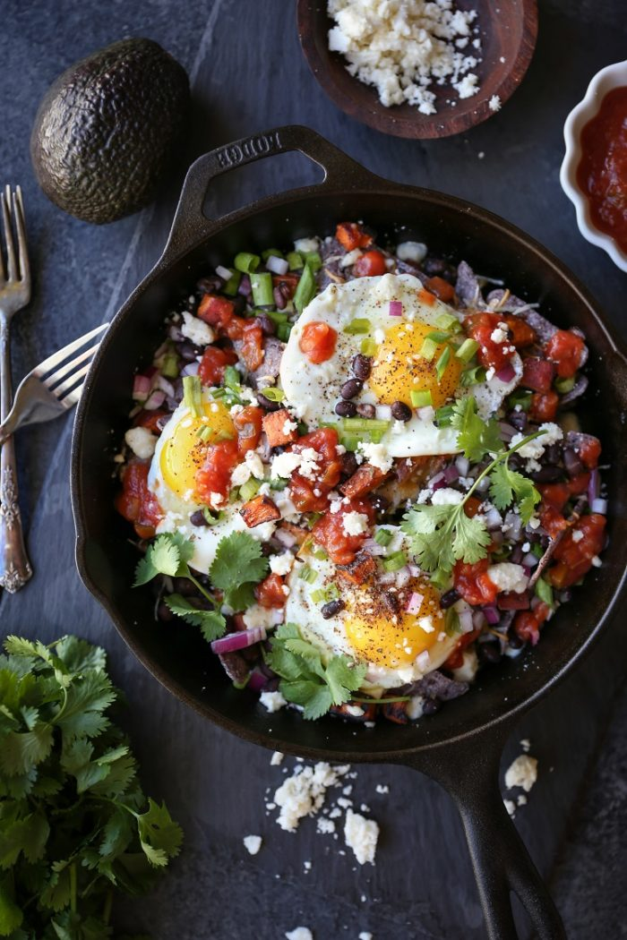 Sweet Potato Huevos Rancheros Nachos from The Roasted Root