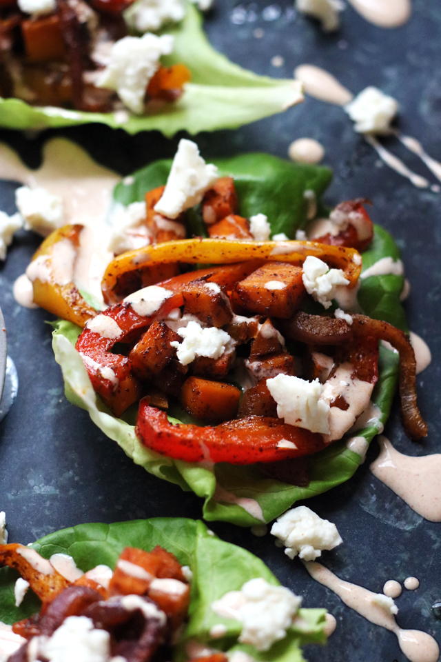 Sheet Pan Roasted Vegetable Fajita Lettuce Wrapsfrom Eats Well With Others