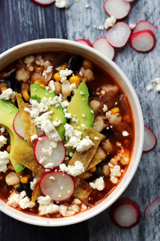 Loaded Vegetarian Tortilla Soup from Eats Well With Others