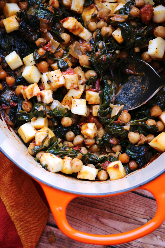 One Pot Baked Paneer and Chickpeas with Spinach from Eats Well With Others
