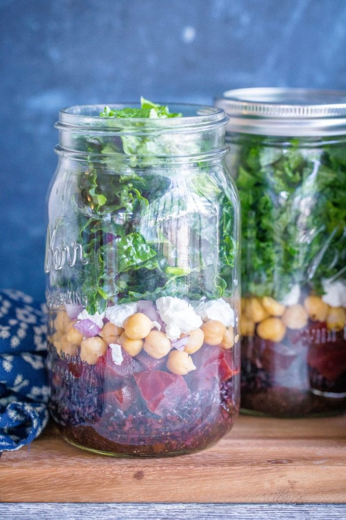 Roasted Beet, Black Rice and Chickpea Salad from She Likes Food