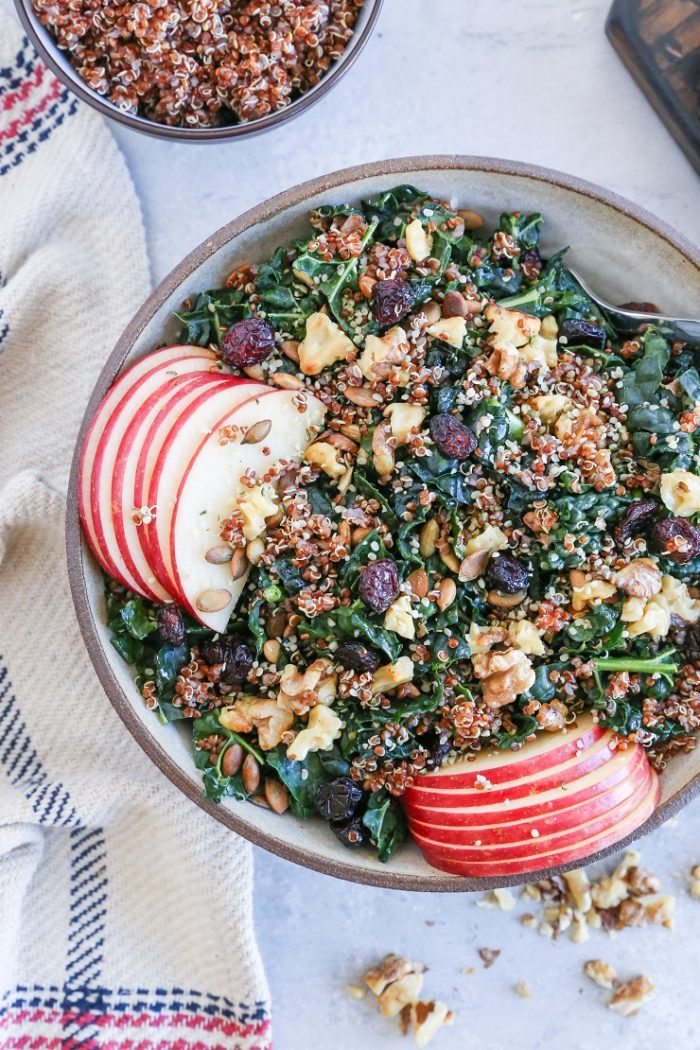 Kale & Quinoa Salad with Apples and Walnuts from The Roasted Root