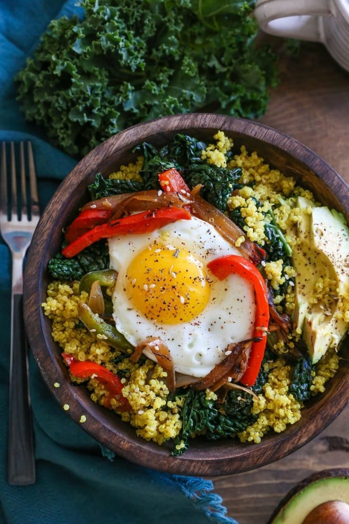 Turmeric Quinoa Breakfast Bowls from The Roasted Root