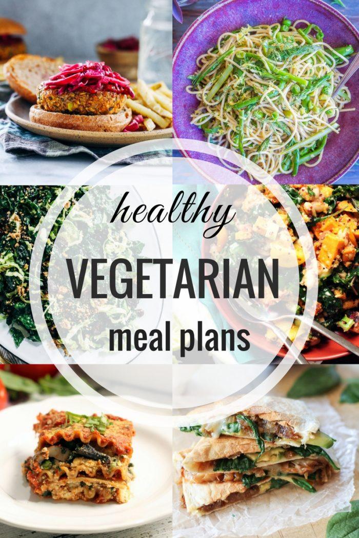 Healthy Vegetarian Meal Plans #plantbased #vegan #glutenfree #mealprep