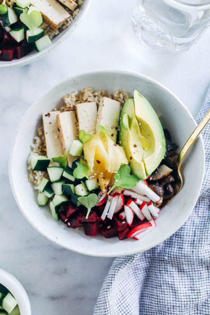 Vegan Poke Bowls from Making Thyme for Health