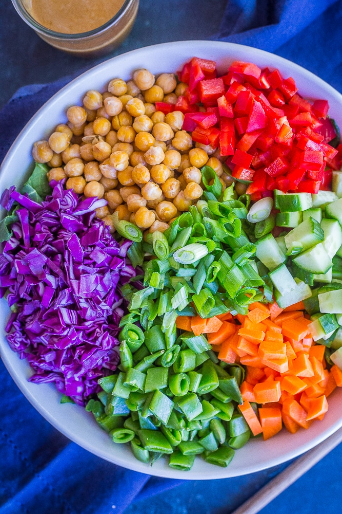 Asian Chickpea Chopped Salad from She Likes Food