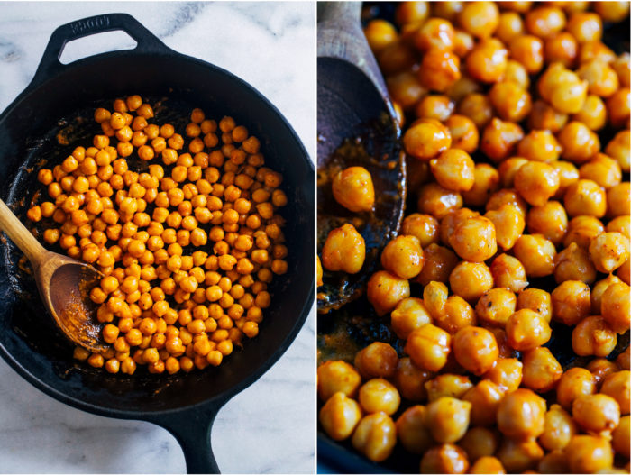 Buffalo Chickpea Kale Salad- all you need is 10 ingredients and 20 minutes to make this light yet satisfying meal! (vegan, gluten-free, grain-free + nut-free)