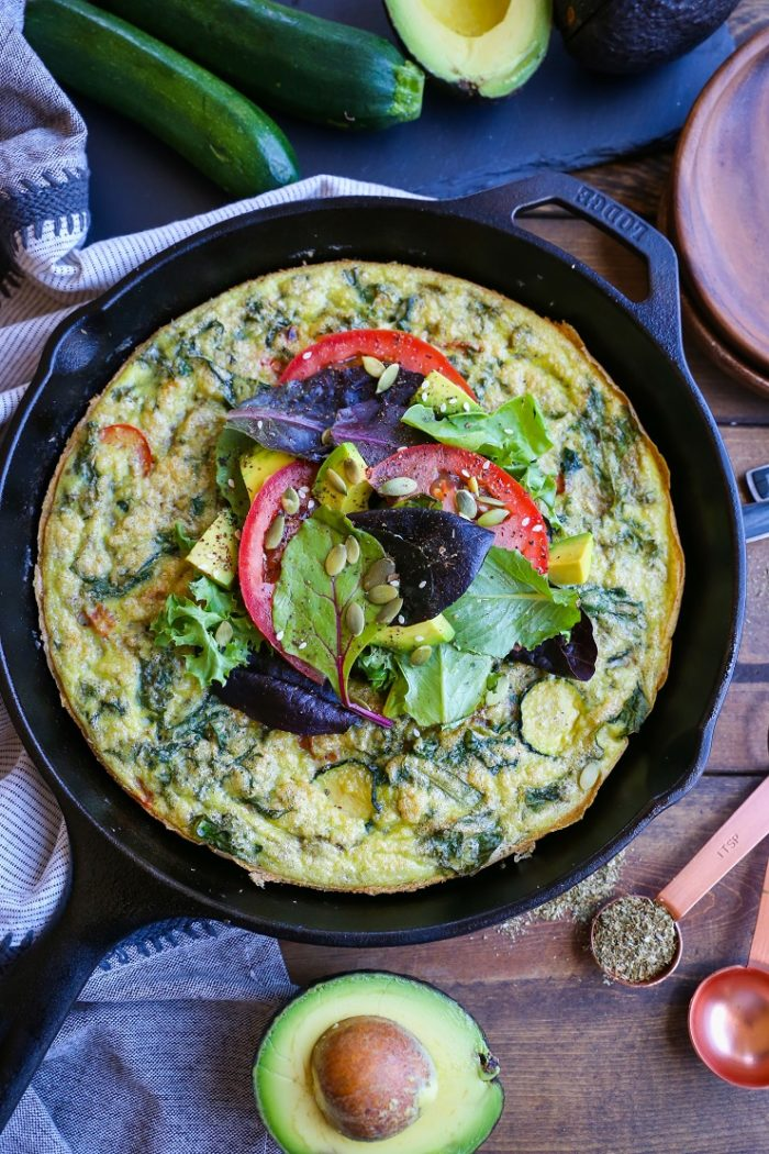 Summer Vegetable Avocado Frittata from The Roasted Root