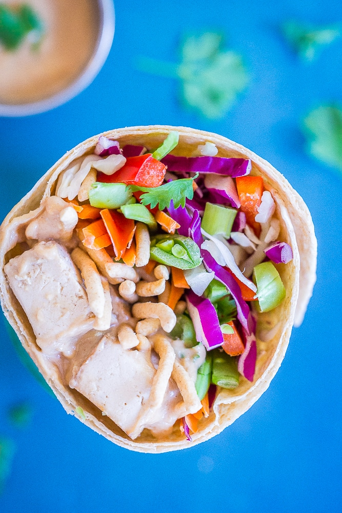 Crunchy Asian Tofu Wraps from She Likes Food