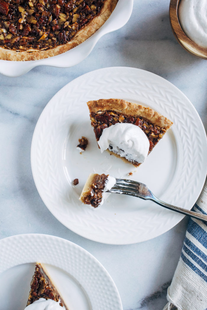 "The Best Vegan Pecan Pie | ""BEST PECAN PIE EVER! I made this pie for thanksgiving and it was a success, it was super easy to make."""