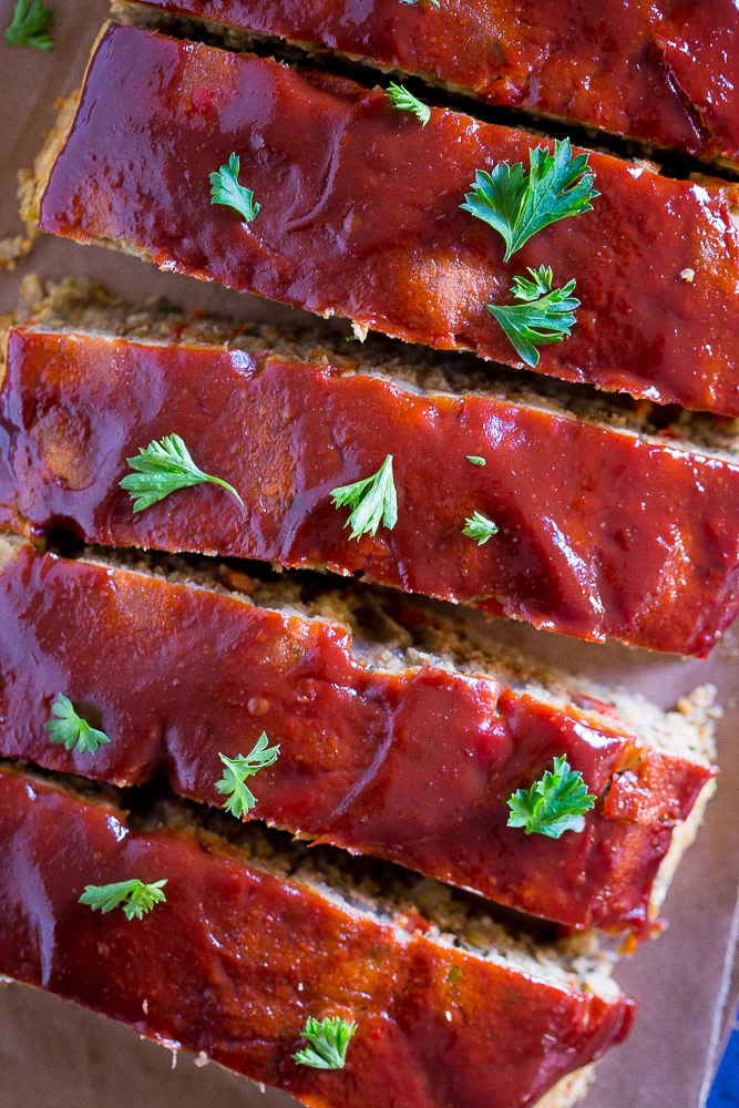 Easy Vegan Meatloaf with Lentils and Chickpeasfrom She Likes Food