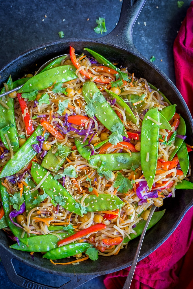 30-Minute Sesame Ginger Noodles from She Likes Food
