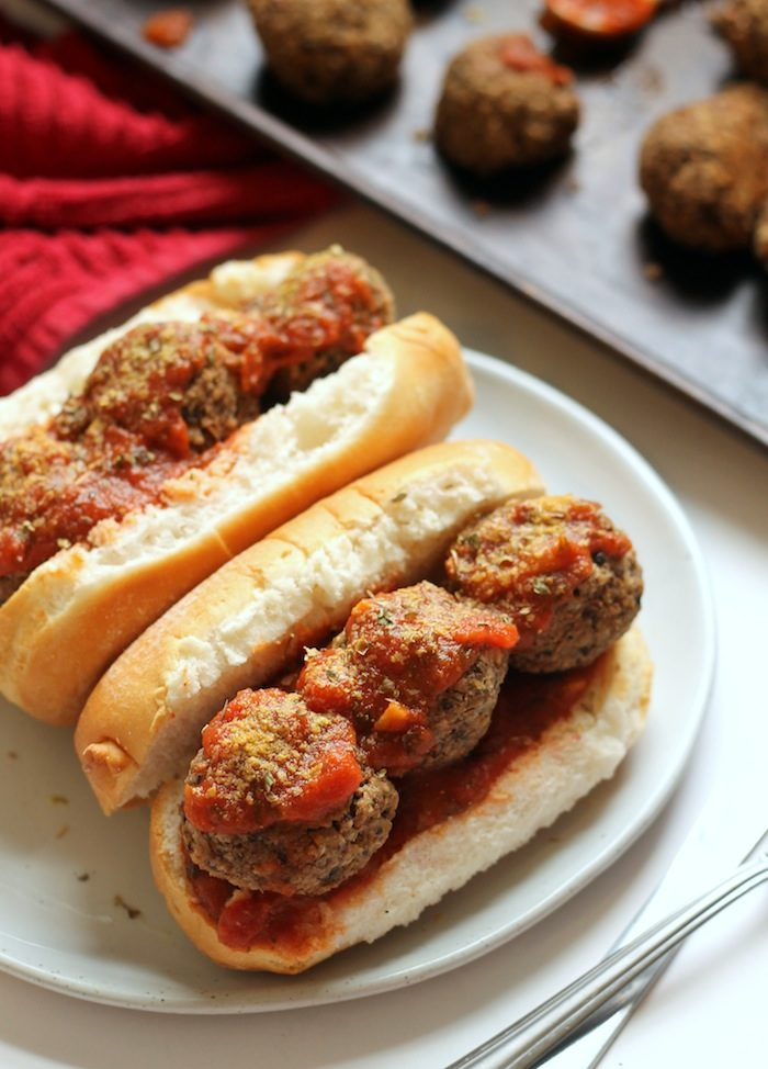 Vegan Meatball Subs from Hummusapien