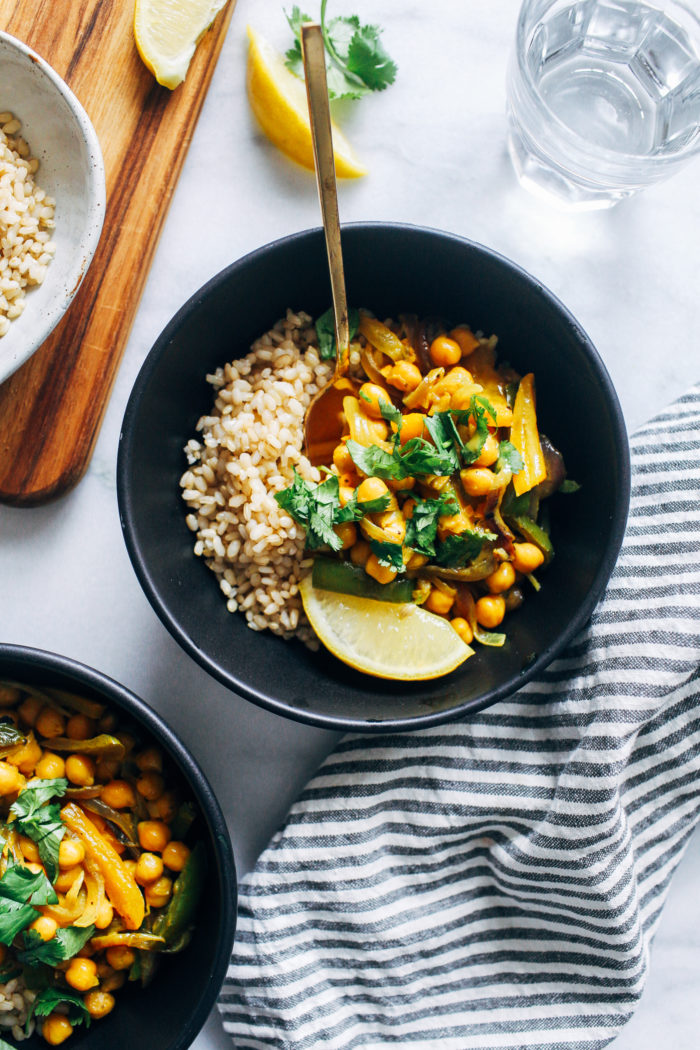 Creamy Turmeric Chickpea Skillet from Making Thyme for Health