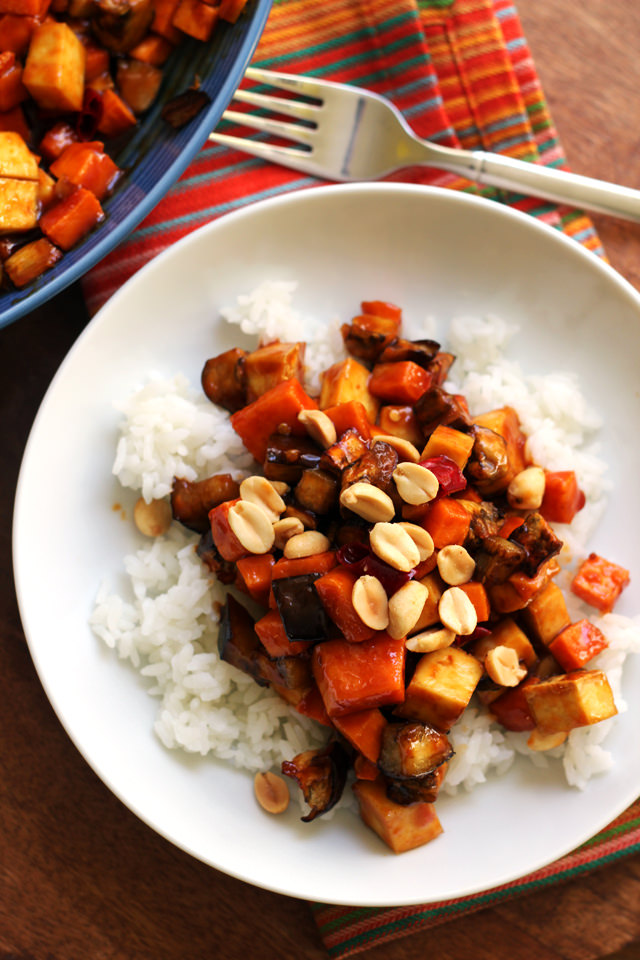 Crispy Kung Pao Tofu and Vegetable Stir Fry from Eats Well With Others