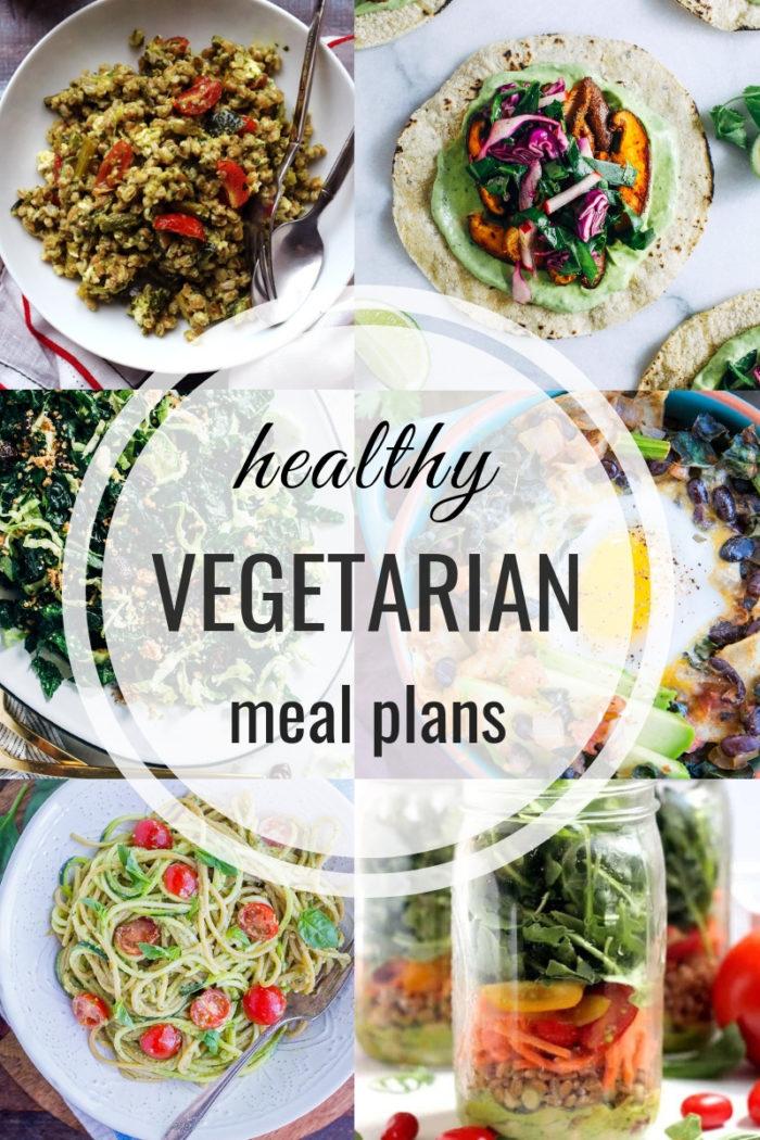 Healthy Vegetarian Meal Plan: Week of 5-18-2019