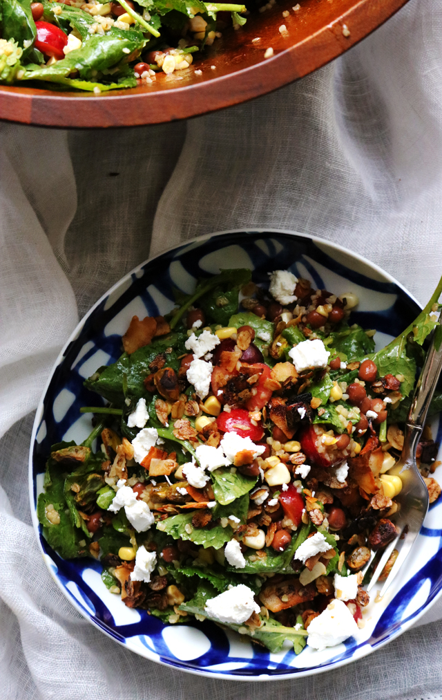 Kale, Cherry, and Bulgur Salad with Savory Granola from Eats Well With Others