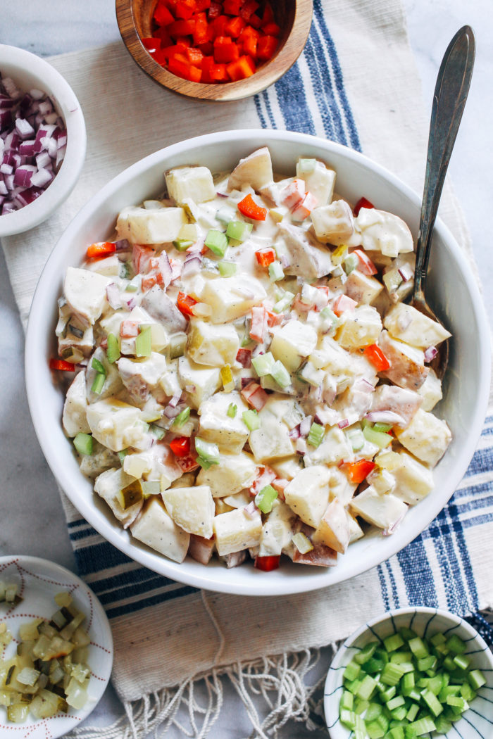 Classic Vegan Potato Salad- made with a secret ingredient, no one would ever guess this classic potato salad is vegan!
