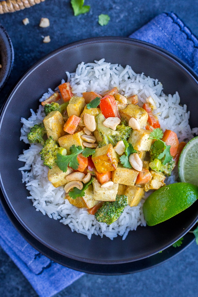 Easy Coconut Curry with Tofu from She Likes Food